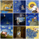 Van Gogh posters by Starry Night Poster by Alireza Karimi Moghaddam