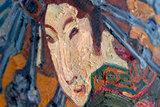 Japonaiserie: Oiran (after Kesaï Eisen) the courtesan oil painting reproduction detail