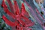 Japonaiserie: Oiran (after Kesaï Eisen) the courtesan oil painting replica detail