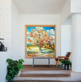 Peach Tree in Bloom Van Gogh in interior