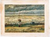 Seascape at Scheveningen Van Gogh reproduction