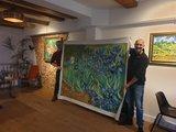 Irises Van Gogh replica large