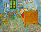 Vincents Bedroom in Arles Art institute of Chicago Van Gogh Reproduction