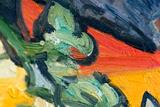 Portrait of Doctor Gachet Van Gogh reproduction detail
