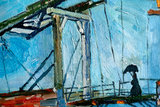 detal The Langlois Bridge at Arles in Wallraf-Richartz Van Gogh