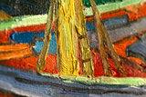 Fishing Boats on the Beach at Saintes-Maries Van Gogh