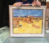 Framed Harvest in Provence Gogh replica