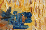 detail Harvest in Provence Gogh reproduction