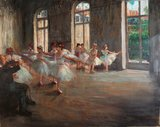 Ballet Rehaearsal Degas reproduction