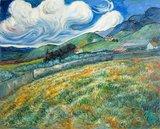 Mountain Landscape behind the Saint-Paul Hospital Van Gogh reproduction