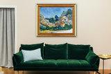 framed Mountains at Saint-Rémy Van Gogh reproduction