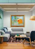 Vincents Bedroom in Arles Art institute of Chicago Van Gogh Replica framed