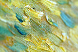 detail Wheat Field with Cypresses at the Haute Galline Van Gogh Replica