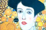 Portrait of Adele Bloch Bauer Klimt reproduction detail
