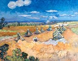 Wheat Fields with Reaper Van Gogh reproduction