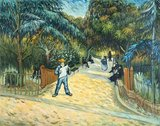 Entrance to the Public Park in Arles Van Gogh reproduction