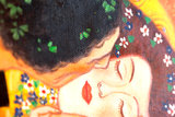 The Kiss Klimt reproduction, hand-painted in oil on canvas_