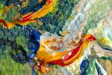 detail Framed small Irises Van Gogh reproduction