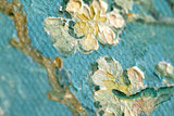 detail Framed small Almond Blossom Van Gogh reproduction
