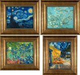 Four framed small Van Gogh reproductions