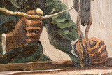 Weaver, Seen from the Front Van Gogh replica detail