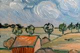 Plain near Auvers Van Gogh reproduction detail