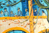 detail The Courtyard of the Hospital in Arles van Gogh replica