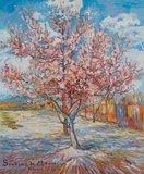 Pink Peach Tree in Bloom Van Gogh Reproduction