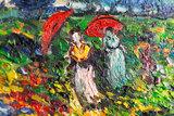 detail The Green Vineyard Van Gogh reproduction