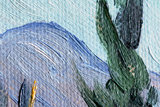 Huts surrounded by Olive Trees and Cypresses Van Gogh reproduction detail