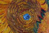 five sunflowers Van Gogh replica detail