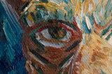 Self Portrait With Grey Felt Hat reproduction detail