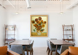 Framed Vase with Fifteen Sunflowers Van Gogh reproduction