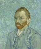 Self-Portrait Vincent van Gogh Reproduction, hand-painted in oil on canvas_