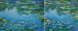 Water Lilies Monet Reproduction, hand-painted in oil on canvas_