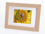 Sunflowers mini painting, hand-painted in oil on canvas_