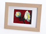 Plum Tree mini painting, hand-painted in oil on canvas_
