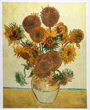Vase with Fifteen Sunflowers Van Gogh reproduction