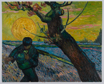 The Sower Van Gogh Museum Oil Painting Reproduction, hand-painted in oil on canvas