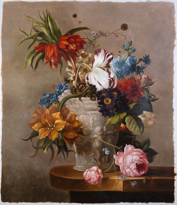 Van Os Stillife reproduction, hand-painted in oil on canvas