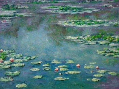 Water Lilies Monet Reproduction, hand-painted in oil on canvas