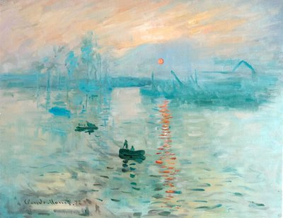 Impression, Sunrise Monet reproduction, hand-painted in oil on canvas