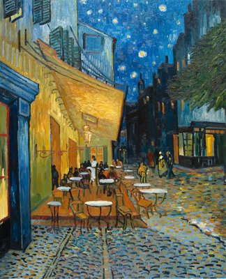 Café Terrace at Night Van Gogh Reproduction, hand-painted in oil on canvas