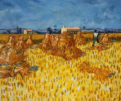 Harvest in Provence Van Gogh Reproduction, hand-painted in oil on canvas