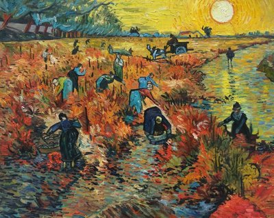 The Red Vineyard Van Gogh Reproduction, hand-painted in oil on canvas