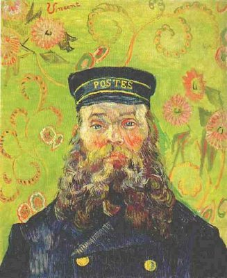 Portrait of the Postman Joseph Roulin Van Gogh Reproduction, hand-painted in oil on canvas