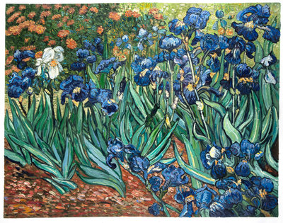 Irises Van Gogh Reproduction, hand-painted in oil on canvas