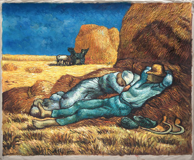 Noon: Rest from Work (after Millet) Van Gogh Reproduction, 1889