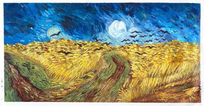 Wheat Field with Crows Van Gogh Reproduction, hand-painted in oil on canvas