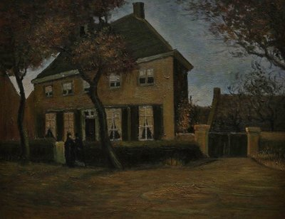 The Vicarage at Nuenen Van Gogh Reproduction, hand-painted in oil on canvas